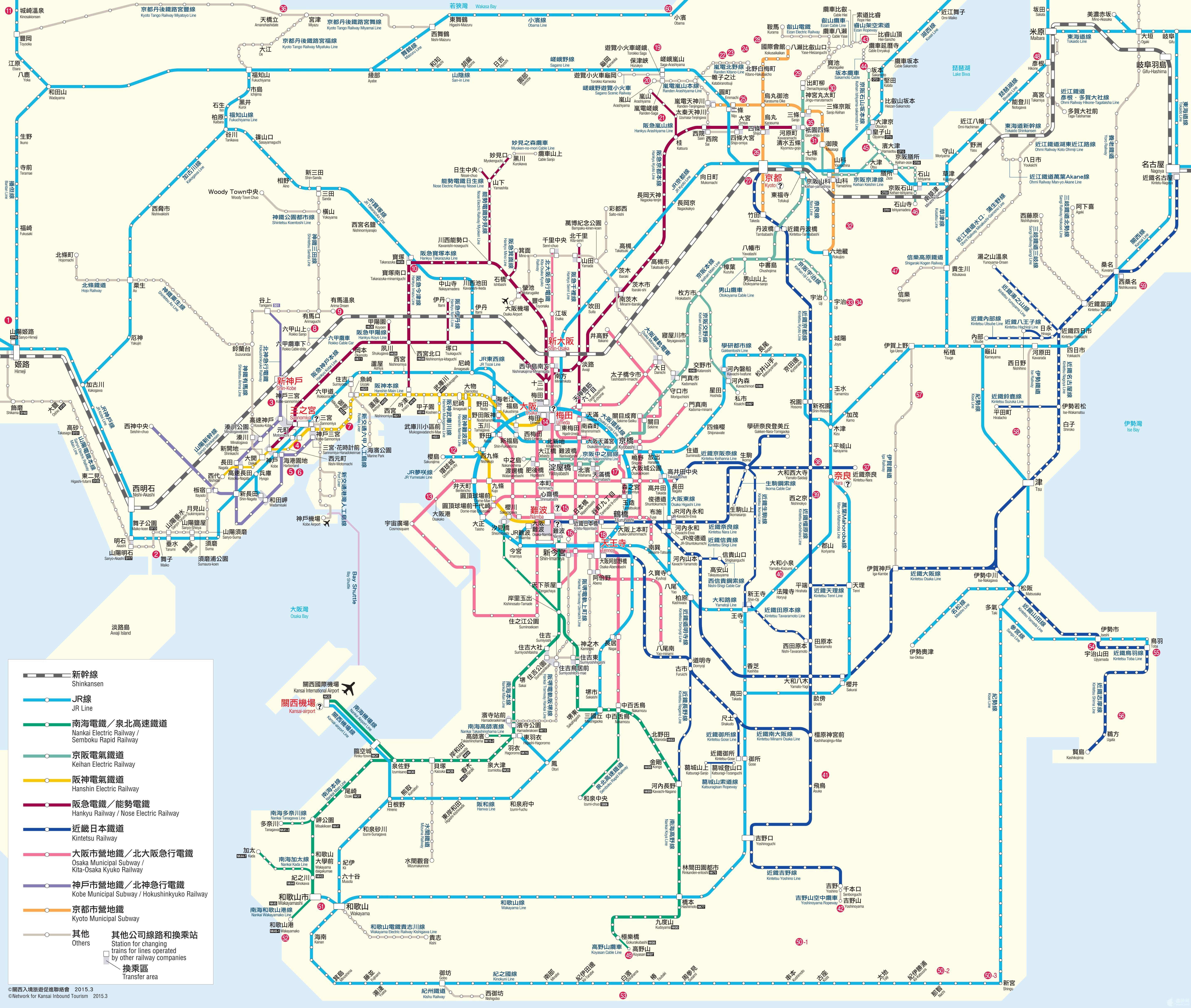 日本地铁线路图图片