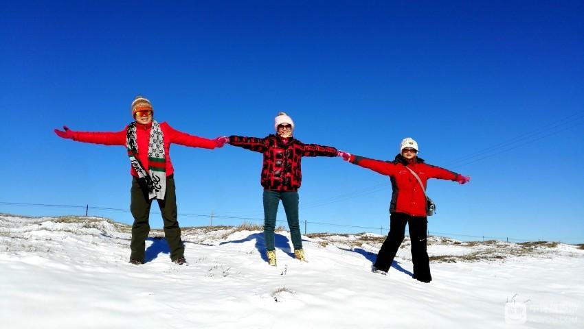 北方的霸气吸引着漂亮的美眉来穿越零下30度的极限