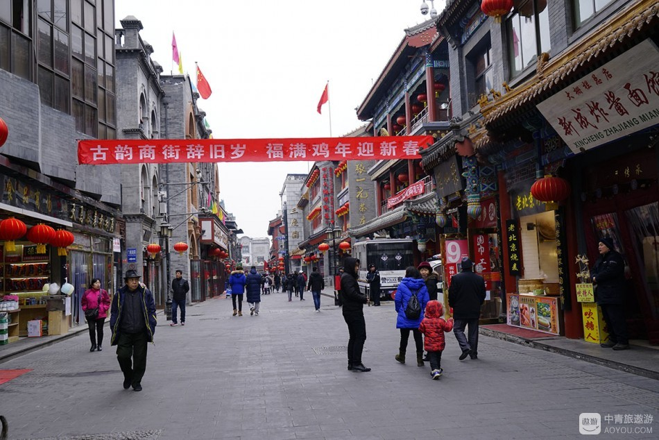 正阳门下的老街