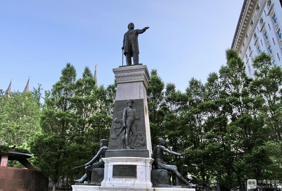 3、创建盐湖城的杨伯翰雕像。.jpg