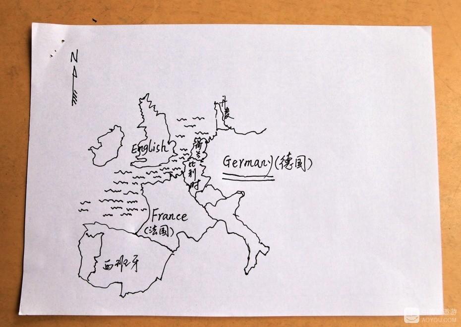 """13、我草画的西欧简图,确定了""""德国制造""""。.jpg"""