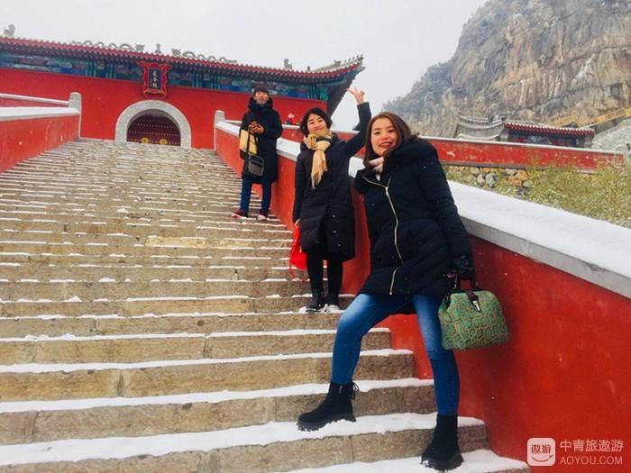三千世界银成色 十二楼台玉作层——2017初雪游安阳长春观...