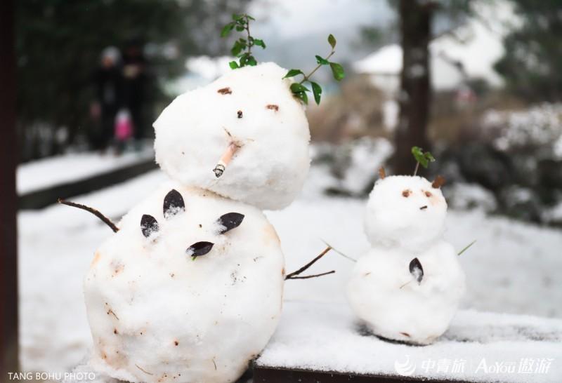 宜春冬天雪纷飞,在明月山下邂逅一场千年温泉
