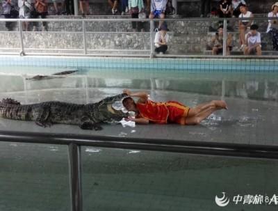 游记帕塔亚百万年化石鳄鱼湖三