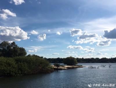赞比西河落日