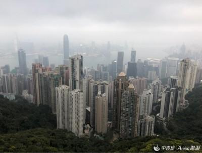 太平山顶俯瞰香港