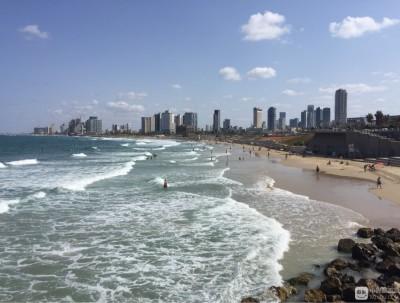 以色列之旅:美丽的特拉维夫地中海沙滩