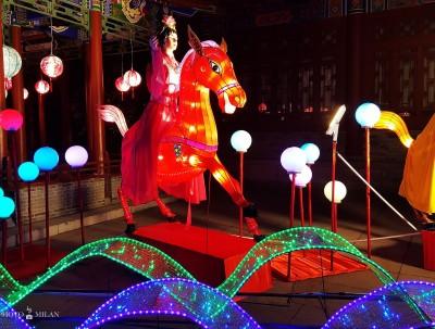在西安赏花灯,有味道的中国年!