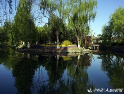 北京中山公园:游人往来如织,鲜花盛开正美