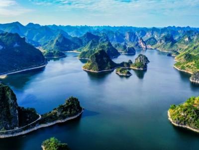 中国唯一没有大坝的水库,航拍视角太迷人,就在广西南...