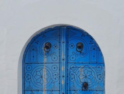 突尼斯(2)地中海边著名的蓝白小镇
