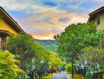 圣诞节快到了带上家人去惠州南昆山居温泉度假吧