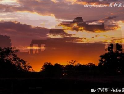 吴哥窟,落日余晖下见到古高棉天堂的模样
